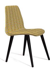 Cadeira De Jantar Eames Palito Amarelo E Cinza