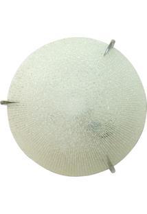 Plafon Prisma Vidro Craquelado 40Cm 3 Lâmpadas E-27 Max 60