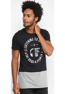 Camiseta Coca-Cola Long Recorte Masculina - Masculino