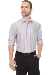 Camisa Dudalina Slim Lisa Cinza