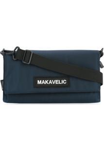 Makavelic Bolsa Tiracolo Com Logo - Azul