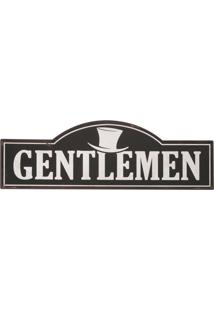 Placa Decorativa Gentlemen