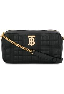 Burberry Quilted Check Tb Camera Bag - Preto