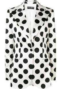 Dolce & Gabbana Blazer Com Poás - Branco