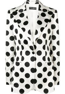 Dolce & Gabbana Polka-Dot Blazer - Branco