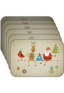 Jogo Americano Love Decor Wevans Cute Noel Kit Com 6 Pçs