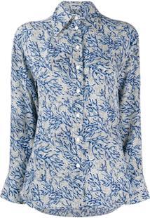 Michael Michael Kors Blusa Com Estampa Floral - Azul