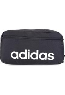 Pochete Adidas Shoulder Bag Essentials Logo Linear - Unissex-Preto+Branco