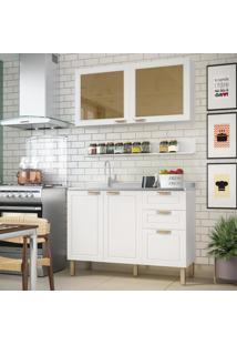 Cozinha Completa 3 Peã§As Americana Multimã³Veis 5921 Branco - Branco/Incolor - Dafiti