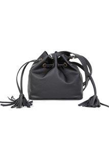 Bolsa Shoestock Bucket Lisa Feminina - Feminino-Preto