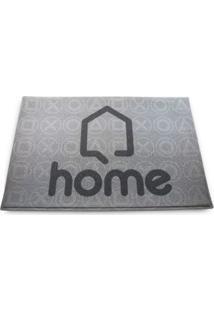Capacho Home Geek10 - Cinza
