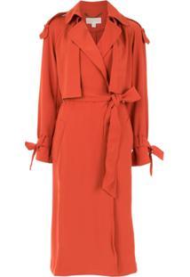 Michael Michael Kors Trench Coat 'Drapey' - Laranja