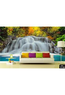 Papel De Parede 3D Cachoeiras Paisagens Adesivo Decorativo 1.40X2.98M Painel Fotográfico