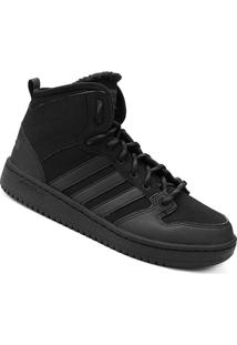 Tênis Couro Cano Alto Adidas Cf Hoops Mid Wtr Masculino - Masculino