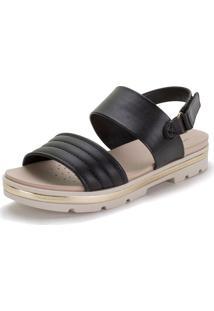 Sandália Feminina Flat Modare - 7132115 Preto 34