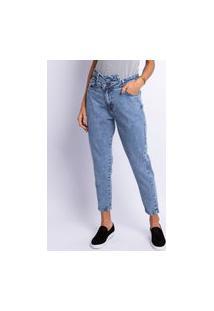 Calça Jeans Mom Lisa Lavagem Média Jeans