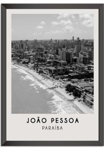 Quadro 65X45Cm Cidades João Pessoa Brasil Moldura Preta Sem Vidro Decorativo