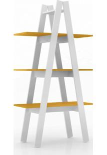 Estante Retrã´ Ii Branca E Amarela