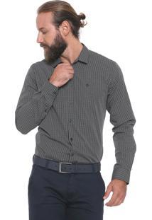 Camisa Forum Reta Xadrez Preta/Verde