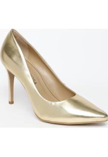 Scarpin Metálico - Dourado - Salto: 11Cmmorena Rosa
