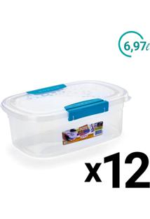 Conjunto Pote Plast Microondas Freezer Ultraforte 6,9L 12Un - Tricae