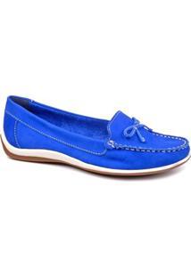 3347f94695 ... Mocassim Bottero Lacinho - Feminino-Azul Royal