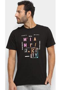 Camiseta Aleatory Miami City Masculina - Masculino