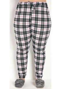 Pijama Longo Preto E Xadrez