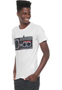 Camiseta Tectoy Master System Sega Joystick Bf Branca