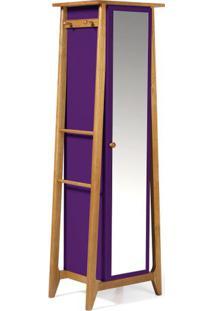 Armario Multiuso Stoka Cor Amendoa Com Roxo - 31601 - Sun House