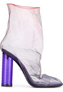 Nicholas Kirkwood Ankle Boot D'Arcy Plexi - Roxo