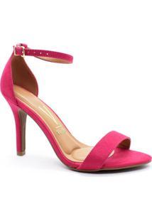 Sandália Feminina Vizzano Pink Salto Alto Fino Chic 6249452