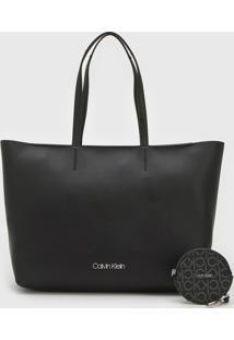 Bolsa Calvin Klein Sacola Preta