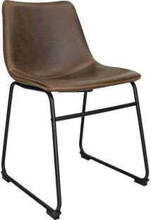 Cadeira De Jantar Vintage Mkc-043-Marka Móveis - Marrom