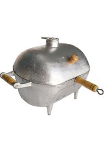 Churrasqueira Alumínio Bafo Oval Pequena