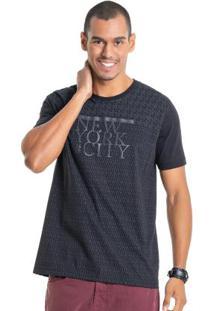 Camisa Com Estampa Em Relevo Preto Bgo