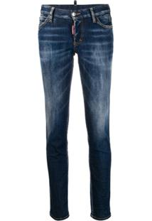 Dsquared2 Low Rise Skinny Jeans - Azul