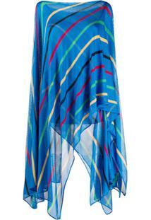 Missoni Blusa De Tricô Com Listras E Sobreposição - Azul