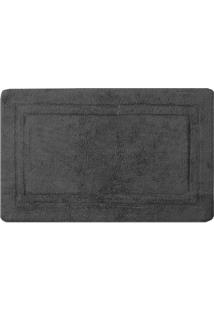 Tapete De Banheiro Bogotã¡- Cinza Escuro- 160X80Cm