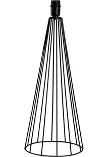 Abajur Sem Cúpula Tower Preto 50Cm