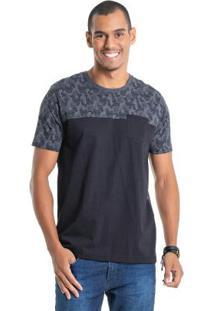 Camiseta Com Estampa Caveiras Cinza Bgo