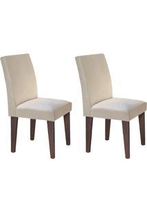 Cadeira Rufato Grécia Mdf Café Creme