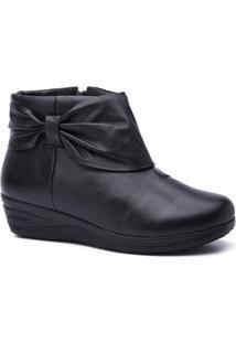 Bota Feminina 158 Em Couro Doctor Shoes - Feminino-Preto