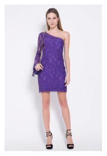 Vestido Renda Purple Violet