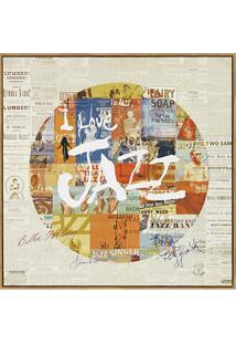 Quadro Em Canvas Colagem Jazz 40Cm
