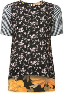 Nº21 Blusa Com Estampa Floral - Estampado
