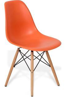 Cadeira Eames Dkr Wood Laranja - Laranja - Dafiti