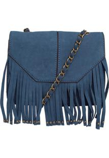 Bolsa Butterfly Franjas Azul