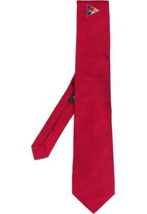 Etro Gravata Com Bordado - Vermelho