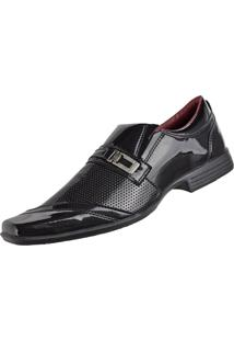 Sapato Social Cr Shoes Fashion Fino Preto